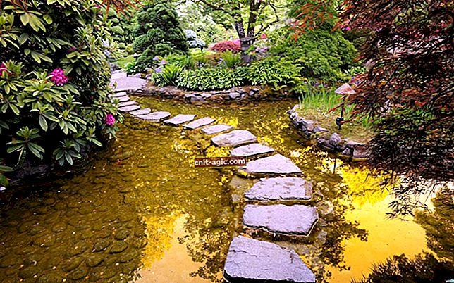 Caminhos de jardim em paisagismo
